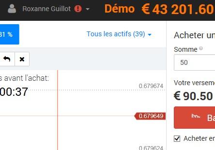 La belle Roxanne a su transformer 1000 euros en 43 000 en moins d'une journée… Mais maitrise – elle le trading pour autant?