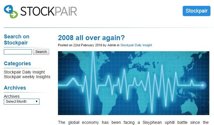 L'actualité économique présentée par le broker StockPair