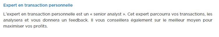Les analystes personnels : l'atout principal de la formation du broker StockPair
