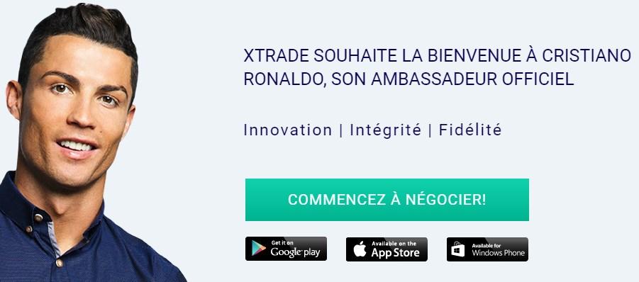 Le courtier Xtrade aurait même réussi « à signer » avec Ronaldo!