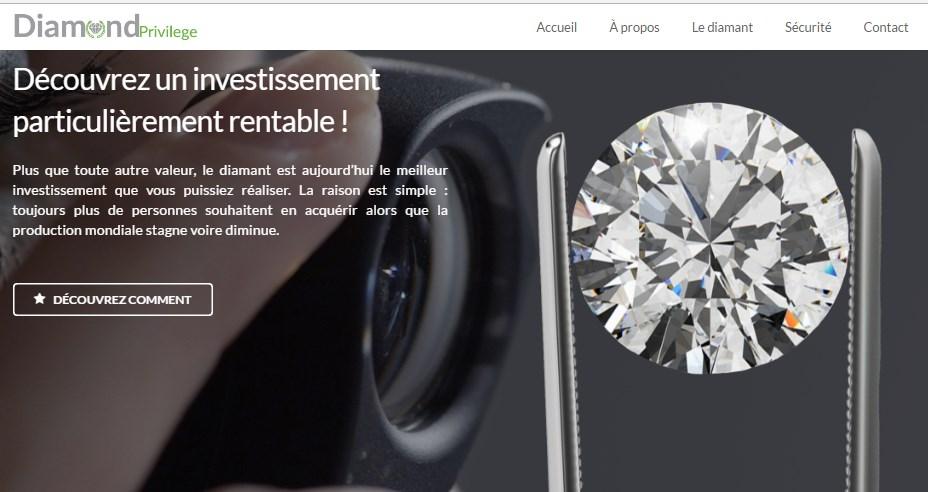Avis sur DiamondPrivilege : l'opportunité d'investir dans les diamants