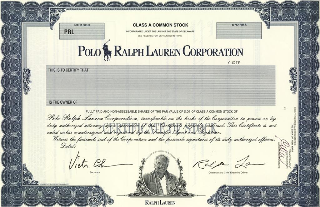 Bilan sur l'action Ralph Lauren