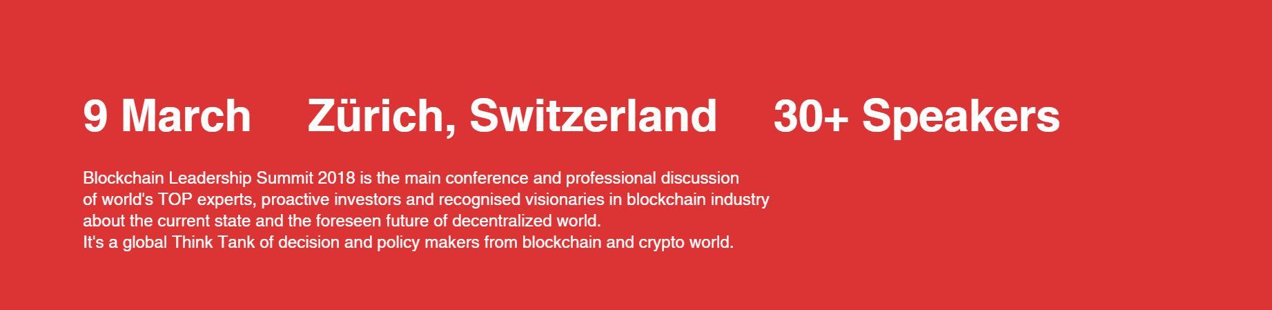 Le Blockchain Leadership Summit: la plus grande conférence de la crypto finance est pour bientôt